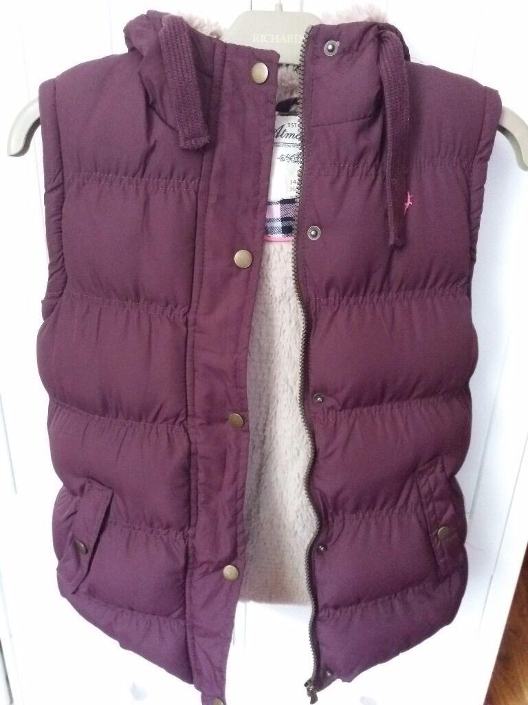 Purple body warmer size 8