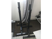 Heavy Duty Adjustable Gym Power Rack Stand Weight Bench Support - 25 £