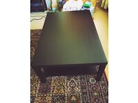 Large IKEA Black Coffee Table with wood grain effect - Good Condition