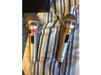 Pair of cheap microphones with k&k box
