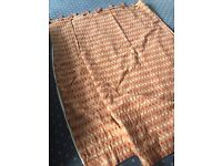 Free Lined Tab-top Terracotta/Gold curtains - Langbank
