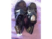 Black, Chunky Jelly shoes, size 7 - brand new