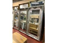 MIRROR WAREHOUSE NEW Large silver & champagne Mirrors from £89-£599