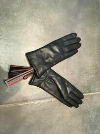Women's new real leather gloves, size Medium