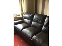 3 seater leather recliner sofa for sale