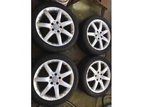 Mercedes Alloys wheels +Tyers