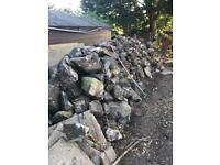 Free Stone/Rock/ whin - Garden wall / rockery / pond