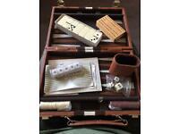 Old style backgammon, crib, dominoes
