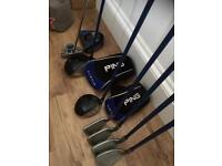 PING Moxie Junior clubs and bag suit 7-11year old