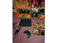 Xbox one S ltd edition blue with 1 controller, 4 games