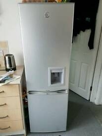 Silver slimline fridge/freezer with water dispenser