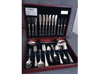 Amefa 44 Piece Cutlery Set in Wooden Display Box
