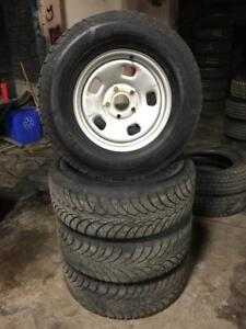 3 SETS 265 70R 17 GOODYEAR ULTRA GRIP WINTER SNOW TIRES & RIMS DODGE RAM 1500 5X139.7 BOLT GREAT CONDITION 10/32NDS