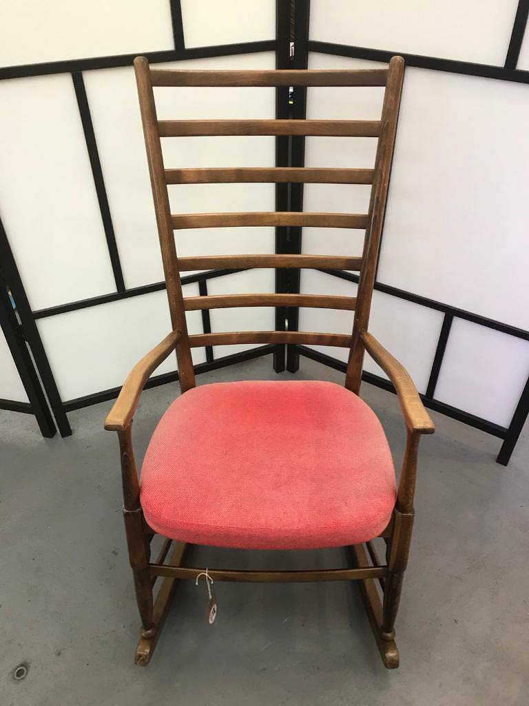 Nice Retro Mid Century Scandinavian Style Rocking Chair