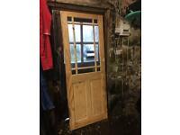 Glazed internal door.