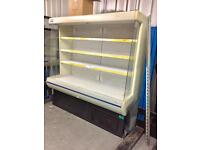 Open multi deck upright shop chiller bottle Cooler drinks dairy fridge