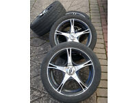 "17"" WheelsTeam Dynamics City Alloy with Pirelli PZero Nero 215/45/17 Tyres."