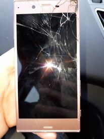 Sony experia zx broken screen rose gold