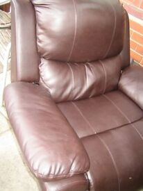 leather type electric recliner