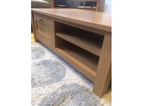Oak effect 2 drawer / 2 shelves coffee table - from Next