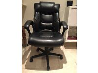 Faux Black Leather Office Chair