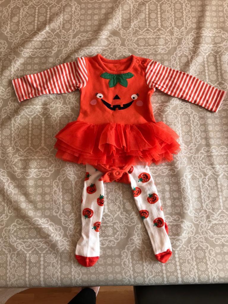 baby girls halloween costume / fancy dress vest, tutu & tights | in