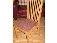 IKEA NORRNAS SOLID OAK DINING CHAIRS X 4