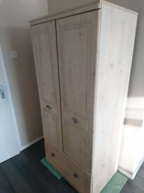 Used wooden 2 door wardrobe childrens room