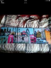 Banksy Three Piece Canvas