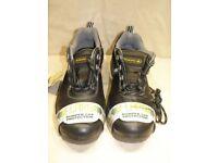 Wide Fit Black Leather Steel Toe Cap Work Shoes Size 6UK 39EU