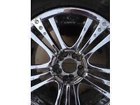 Tyres 235/60/18 inch with chrome 18 inch multi stood alloys