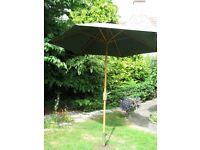 Large Green Garden Umbrella.