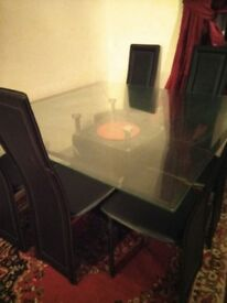 Heavy beautiful marble and glass table