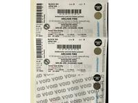 Arcade Fire Tickets x2