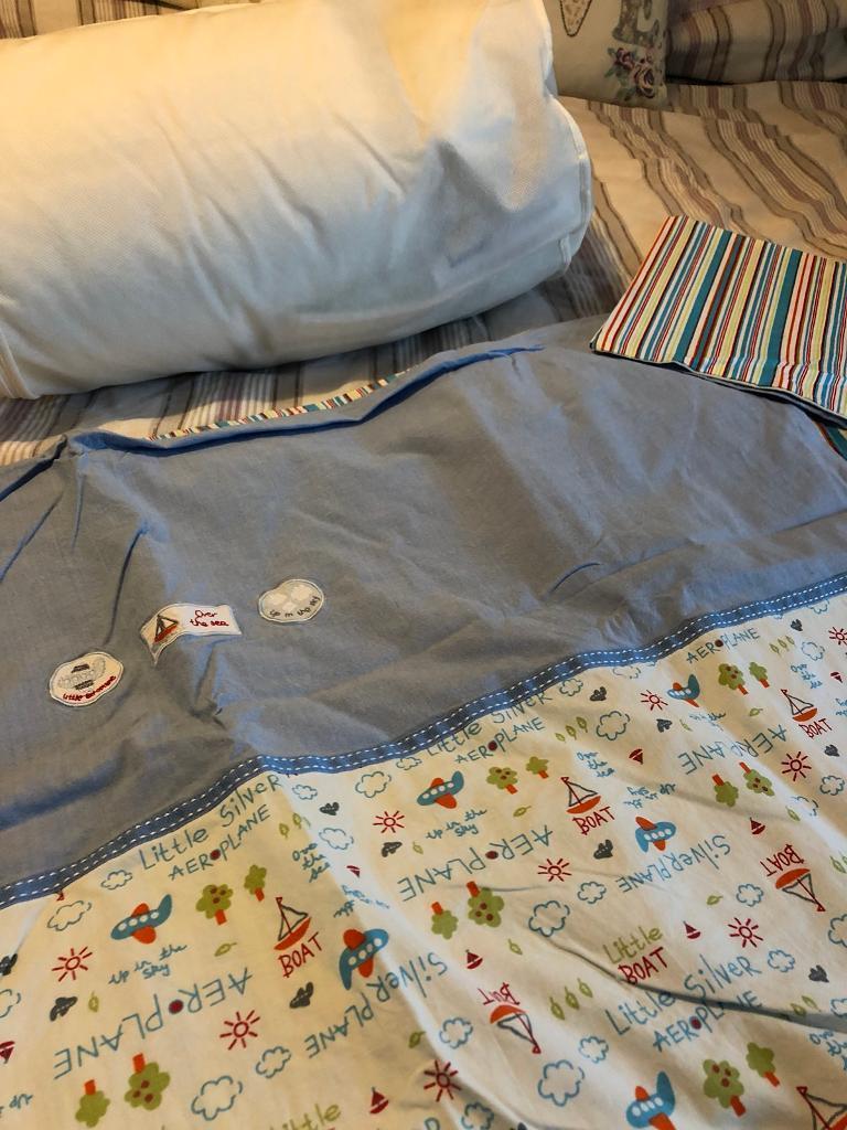 Travel Cot Bedding Set Never Used Duvet 4tog Cover Bottom Sheet Pillow