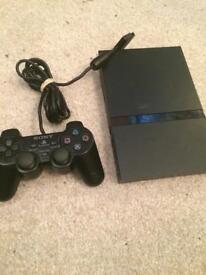 Slim Sony ps2 console setup