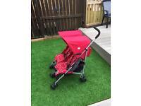 McLaren Double Buggy pushchair stroller