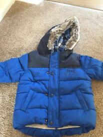 Boys winter coat size 12-18 mths from next
