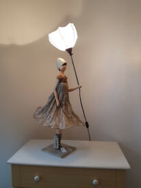 Skitso Woman with Umbrella Designer Lamp