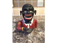 'Jolly black man' cast iron money box