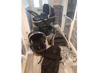 Mothercare journey full travel system with 2 frames
