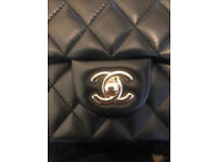 Used, C H A N E L inspired mini classic handbag Gucci Armani Cartier Prada C C Louboutin Ford Westwood for sale  Bethnal Green, London