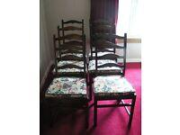 Ercol Chairs (Set of 6 Dark Oak)
