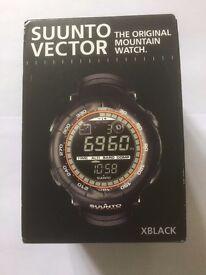 Suunto Vector XBlack Mountain Watch - With Altimeter, Barometer, Compass & Alarm