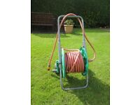 Garden Hose (Gardena 50 m) complete with trolley and all connection devices