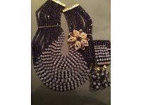 Brand New Purple African Bridal Beads