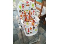 Good condition cosatto supa noodle high chair