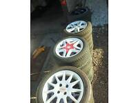 "15"" Alloy wheels 4x108 pcd RETRO ford momo arrows"