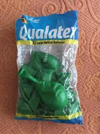 """Qualatex 11"""" Pearl Lime Green Latex Balloons Pack of 21 Helium or air fill."""