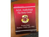 AQA Anthology Study Revision Guide textbook GCSE English Literature Poems Higher Level